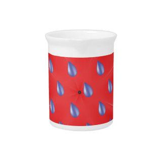 roter Regenschirm Getränke Pitcher
