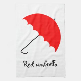 Roter Regenschirm Handtuch