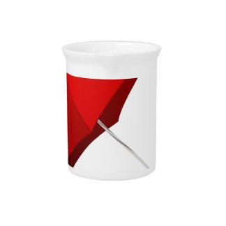 Roter Regenschirm Krug