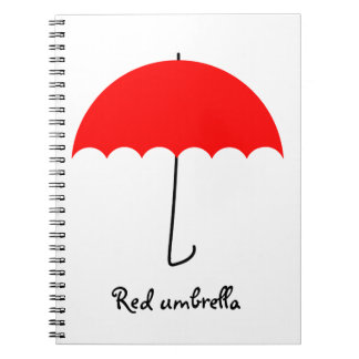 Roter Regenschirm Notizblock
