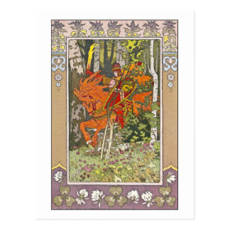 Roter Reiter durch Iwan Bilibin Postkarte
