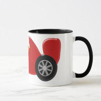 Roter Rennwagen addieren gerade Namen Tasse