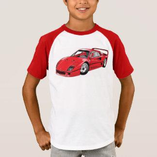 Roter Rennwagen T-Shirt