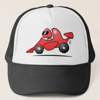 Roter Rennwagen Truckerkappe