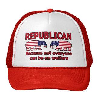 Roter republikanischer Covention Hut Truckerkappen