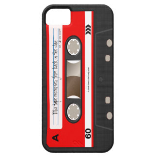 Roter Retro Kassetten-Band-personalisierter Kasten iPhone 5 Etuis