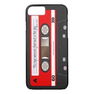 Roter Retro Kassetten-Band-personalisierter Kasten iPhone 7 Hülle