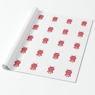 Roter Retro Roboter Geschenkpapier