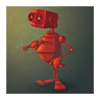 Roter Roboter Galerie Gefaltete Leinwand