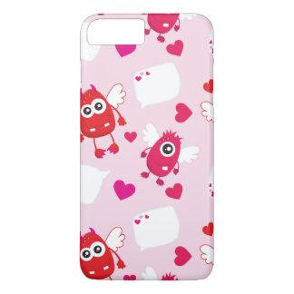 Roter rosa Herzvalentine-niedliches iPhone 8 Plus/7 Plus Hülle