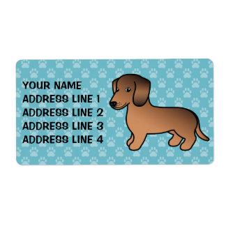 Roter Sable-glatter Mantel-Dackel-Cartoon-Hund