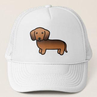 Roter Sable-glatter Mantel-Dackel-Cartoon-Hund Truckerkappe