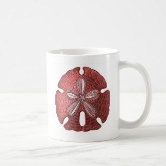 Roter Sand-Dollar Kaffeetasse
