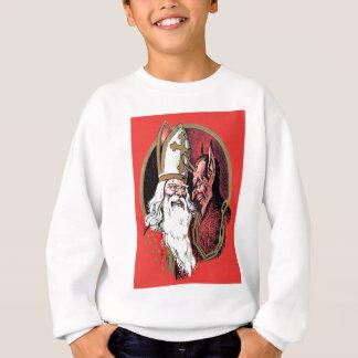 Roter Sankt Nikolaus Krampus Sweatshirt