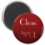 Roter sauberer und schmutziger Spülmaschinen-Magne Kühlschrankmagnet