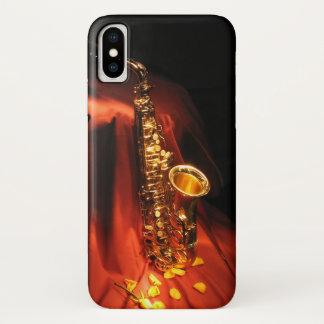 Roter Saxophon iPhone X Kasten iPhone X Hülle