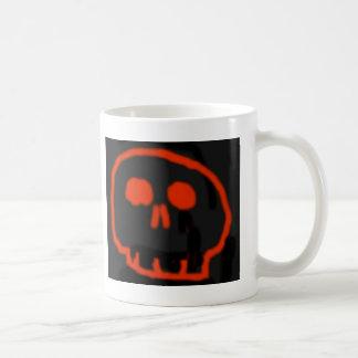 Roter Schädel Kaffeetasse