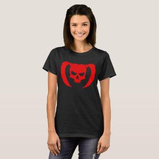 Roter Schädel mit Zöpfen T-Shirt