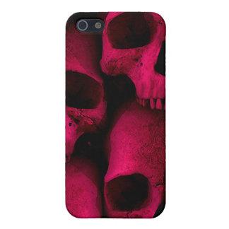 Roter Schädel-Speck-Kasten Hülle Fürs iPhone 5