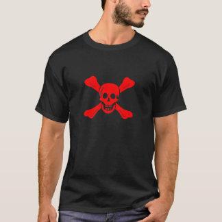 Roter Schädel-T - Shirt Richard Worley