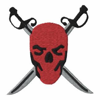 Roter Schädel-u. Schwerter-Piraten-Entwurf