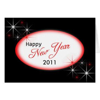 Roter Schein des Schwarzen des neuen Jahres, 2011 Karte