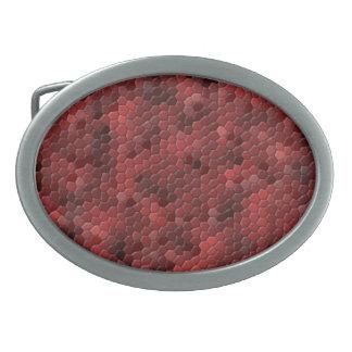 Roter Schlangen-Druck Ovale Gürtelschnallen