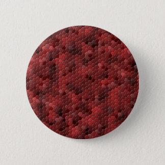Roter Schlangen-Druck Runder Button 5,7 Cm