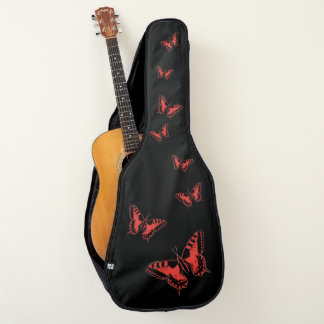 roter Schmetterling Gitarrentasche