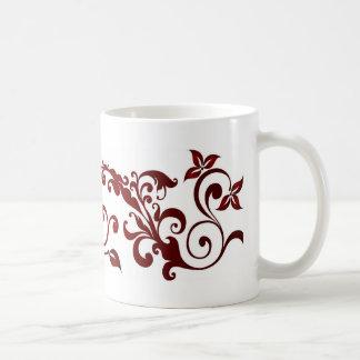Roter Schmetterling Kaffeetasse