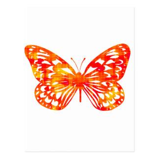 Roter Schmetterling Postkarte