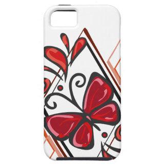 Roter Schmetterlingsentwurf iPhone 5 Schutzhülle