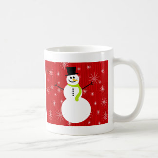 Roter Schneemann Kaffeetasse