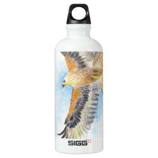 Roter Schwanz-Falke Aluminiumwasserflasche