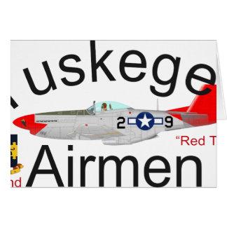 Roter Schwanz-Mustang Tuskegee Flieger-P-51 Karte