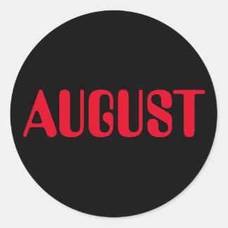 Roter schwarzer Aufkleber August-Amelia durch Janz
