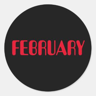 Roter schwarzer Aufkleber Februars Amelia durch