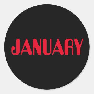 Roter schwarzer Aufkleber Januars Amelia durch