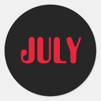 Roter schwarzer Aufkleber Julis Amelia durch Janz