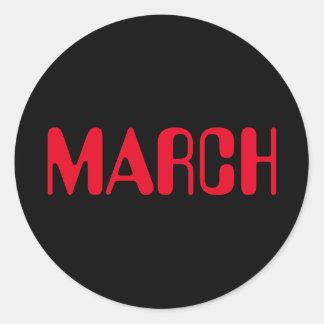 Roter schwarzer Aufkleber März-Amelia durch Janz