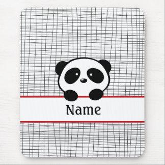 Roter schwarzer personalisierter Panda Mousepad