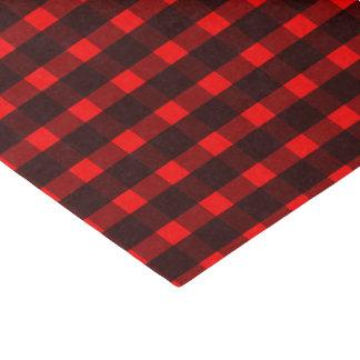 Roter schwarzer Tartan-kariertes Muster Seidenpapier