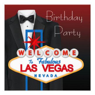Roter schwarzer Tuxedo bemannt Geburtstags-Party