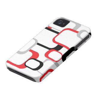 Roter, schwarzer und grauer Case-Mate-Kasten Case-Mate iPhone 4 Hülle