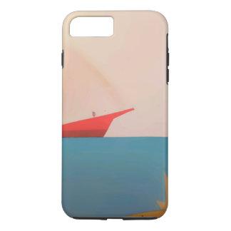 Roter Segel-Boots-Kasten iPhone 8 Plus/7 Plus Hülle