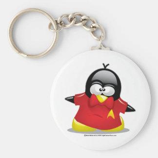 Roter ShirtST1 Penguin Schlüsselanhänger