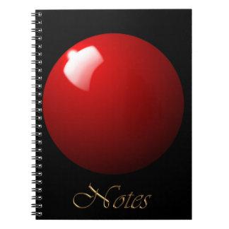 Roter Snooker-Ball-Tabellen-Sport Notizblock