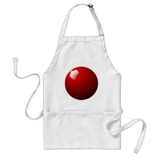 Roter Snooker-Ball-Tabellen-Sport Schürze
