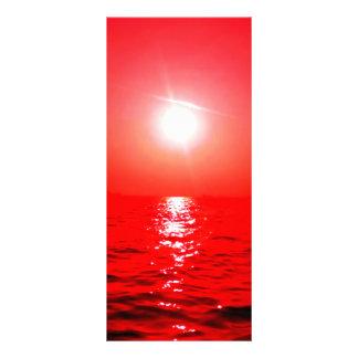 Roter Sonnenuntergang-Meerblick Werbekarte