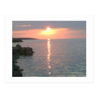 Roter Sonnenuntergang Postkarte